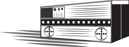 Radio stock illustrationer
