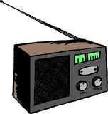 Radio. Illustration of an radio vector illustration