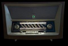Radio. An retro radio with a green magic eye Royalty Free Stock Photos