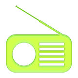 Radio. Blue radio button,web player Stock Photos