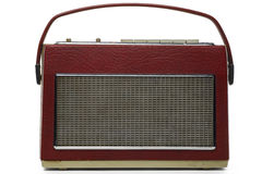 Radio. Vintage transistor radio on white Royalty Free Stock Photos