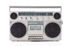 Radio. Old Portable Radio Cassette Player royalty free stock photos
