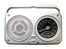 Radio. Isolated radio on white background Royalty Free Stock Photo