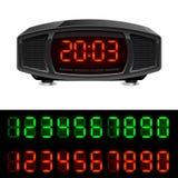 Radio alarm clock. Illustration  on white background Stock Images