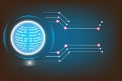 Radio alta tecnologia dei circuiti di tecnologia di vettore della rete moderna di Internet royalty illustrazione gratis