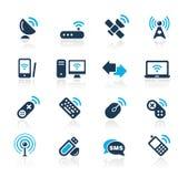Radio & de Communicatie Azuurblauwe Reeks van // Royalty-vrije Stock Afbeelding