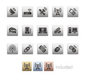 Radio & serie metallica di comunicazioni Immagini Stock