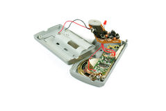 Radio analogique d'isolement criquée Image stock