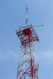 Radio antenna. And the blue sky Royalty Free Stock Images