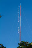 Radio antenna for broadcasting Stock Photos