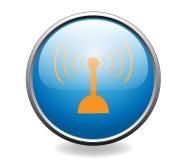 Radio antenna. Button Stock Photo