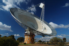 Radio Antenna Dish. Near Parkes, NSW, Australia royalty free stock image