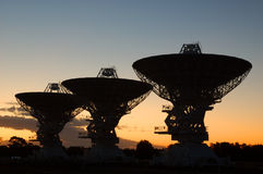 Radio Antenna Dishes. Australian Telescope Compact Array, Narrabri, NSW, Australia royalty free stock images