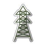 Radio antenna isolated Stock Images