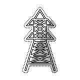 Radio antenna isolated Royalty Free Stock Photo