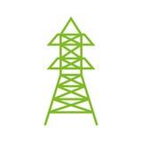 Radio antenna isolated Stock Image