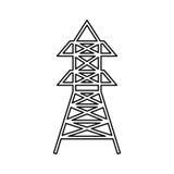 Radio antenna isolated Royalty Free Stock Photos