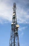 Radio antenna mast Stock Photo