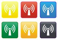 Radio Antenna Web Button Stock Photo