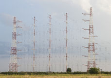 Radio antennas network Royalty Free Stock Images