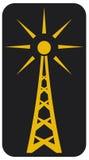 Radio antenne stock illustratie