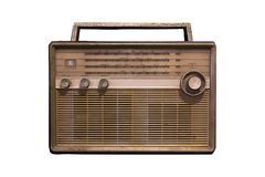 Radio antique sur un fond blanc Images libres de droits