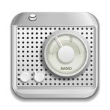 Radio app icon Stock Image