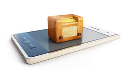 Radio aux téléphones portables Photos stock