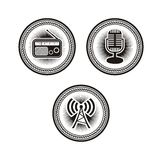 Radio badges Stock Image