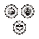 Radio badges vector illustration