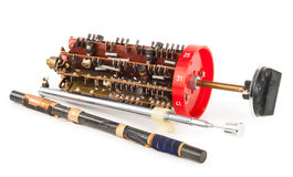 Radio band selector with magnetic antenna. On white background Royalty Free Stock Photography