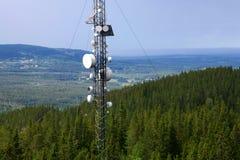 Radio base station. Photo o a radio base station in north Sweden stock images