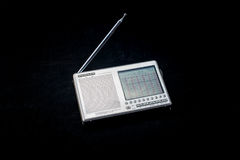 Radio. With a beautiful silver color liquid crystal dial control Royalty Free Stock Photography