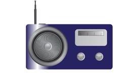 Radio blu brillante Immagine Stock