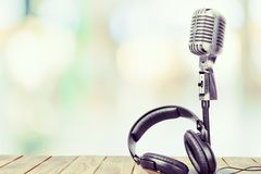 Radio broadcasting Stock Photo