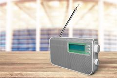 Radio. Broadcasting melody outdated on air frequency broadcast Royalty Free Stock Image