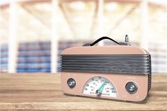 Radio. Broadcasting melody outdated on air frequency broadcast Stock Image