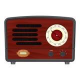 Radio. Brown vector vintage radio reciever Royalty Free Stock Images