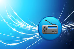 Radio Button on Blue Abstract Light Background. 