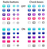 Radio buttons and check boxes Royalty Free Stock Photography