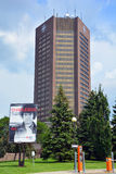 Radio-Canada. MONTREAL CANADA AUGUST 21 2015: Maison Radio-Canada is a skyscraper in Montreal, constructed in 1973 as a home for the Canadian Broadcasting royalty free stock images