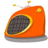 Radio. Cartoon illustration of orange radio royalty free illustration