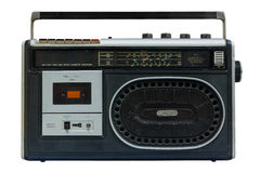 Radio and cassette old. Stock Photos