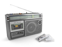 Radio cassette and tape Royalty Free Stock Photos