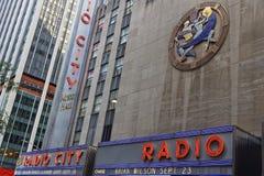 Radio City Building in Manhattan center. NEW YORK CITY, USA, September 11, 2017 : Radio City Music Hall is an entertainment venue in Rockefeller Center Stock Photography