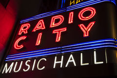 Radio City Hall Royalty Free Stock Images