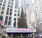 Radio City Hall Is Ready For Christmas Stock Images