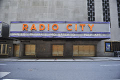 Radio City Hall Sign Royalty Free Stock Photography