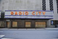Radio City Hall Sign Royalty Free Stock Photography
