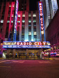 Radio City Music Hall. In New York City at night Royalty Free Stock Photos
